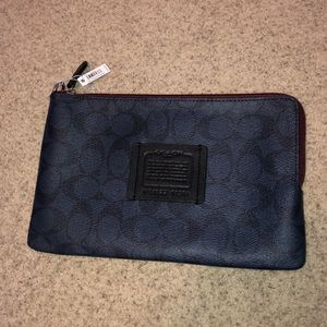 Coach wristlet or cosmetic bag